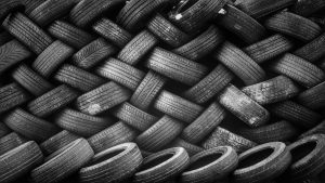 Used tires in a pile from My Auto Store